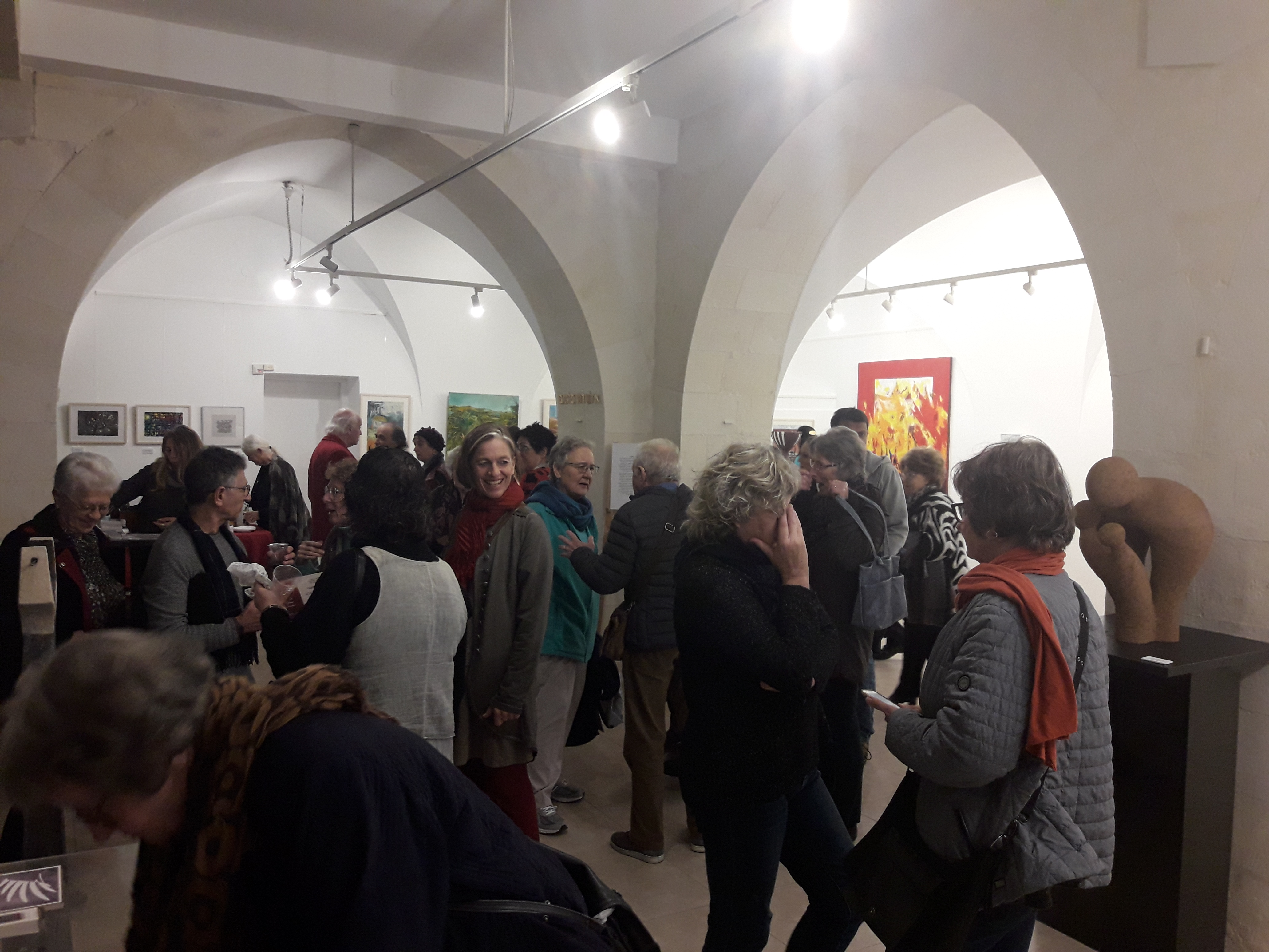 פתיחת תערוכה של אמנים עולים משבדיה